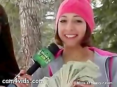 College Girl Fucking A Snow Man For Money