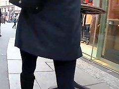 Mom and Anal Plug in Public pantyhose stockings hole butthole