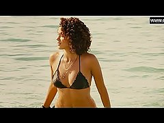 Nathalie Emmanuel - Hot & Wet in Bikini, Sexy Scene + Butt - Furious Seven
