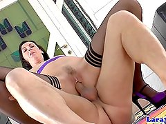 British milf doggystyled after masturbating