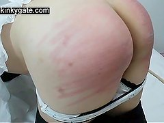 Caning my sub Yolanda to tears