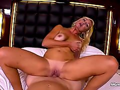 Hot blonde milf fucked in ass and takes facial