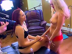 Amateurs on casting couch in first time lesbo