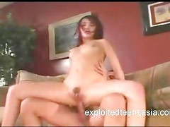 Asian Porn Star Takes It In her Ass With Dildo In Pussy