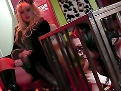 Crossdress with slutty blonde