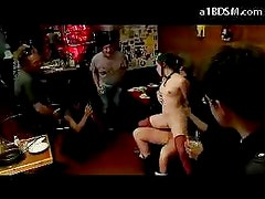 Girl Disgraced In Public Tied Arms Getting Blindfolded Fucked Tits Rubbed Cum To Mouth In The Restaurant