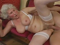 Hey my grandma is a whore and loves to fuck