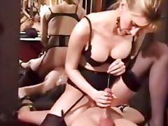 Kinky mature dominatrix extreme cbt and watersports fetish