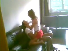 Horny Girl Wanted to fuck in the Couch in an Amateur Video