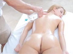 Blonde Chick Getting A Hard Drill From Her Horny Masseuse