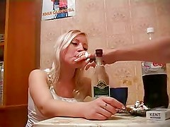 Very Drunk Russian Blonde Fuck