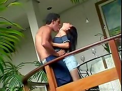 Petite teen loves sex in this free video