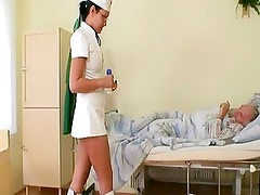Horny Young Nurse Bitch Joins Gr...