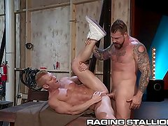 RagingStallion Daddy Gives Hard Ass Hammering