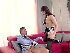 Cute housewife doggystyle