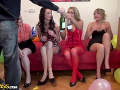 Awesome B-day party drunk orgy movie