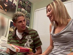 Hot Jenn Barters prefers getting a deep fuck to studying!