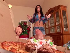Brandy Aniston is a Naughty Babe and Gets a Merry Fucking XXXmas!