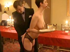 Blonde And Brunette Maids Get Sexually Tortured By Horny Guys