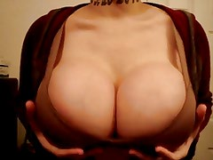 Antoinette Jiggles Her Fake Tits for you!