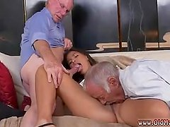 Old granny fucks young girl and paid first