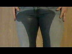 Amateur Girl Jeans Wetting