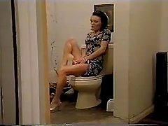 toilet very deep anal insertion.