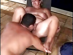 Two chubby sucks and fucks with different man