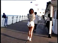 British slut Jamey gets fucked after a day at the seaside