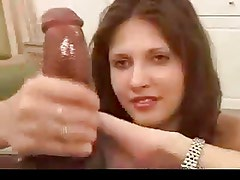 White Women Gives A Great Handjob To A Black Penis