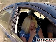 Cop car first time Cute blonde babe Marilyn