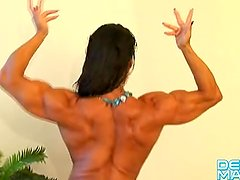 Denise Masino - Warm Tub Water - Female Bodybuilder