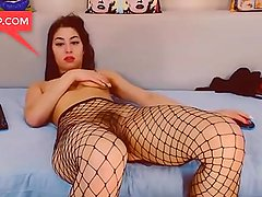 Hot Arabbian girl in black stockings plays with pussy on webcam