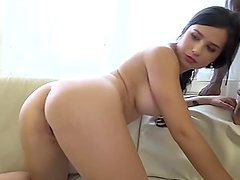 Babes get interracial anal sex and spit cum in each other mouths like sluts