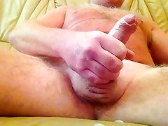 WATCH MY SHAVED BALLS TIGHTEN UP AS I CUM. COMMENTS PLS