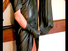 caresses with leather clothing for women