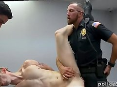 Gay porn huge muscle police  Two