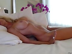 Gorgeous Granny With Wonderful Body Playing In Bed