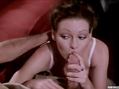 Pornstar Legend Annette Haven gives a good blowjob