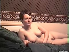 Horny Babe Has Beautiful Tits And A Mouthwatering Pink Shaved Pussy