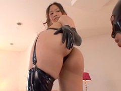 Horny Asian In Latex Lingerie Gets The Hardcore Sex Of Her Life Time