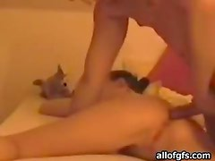 Blond Hottie Gives A Blowjob Before Getting Pounded In Homemade Clip