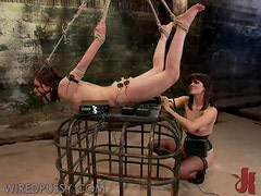 Sexy Brunette Gets Masturbated And Tortured In Femdom Scene