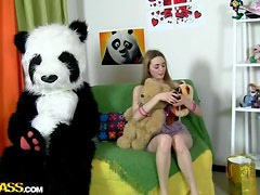 Panda Teddy Fucking A Very Tight And Horny Girl
