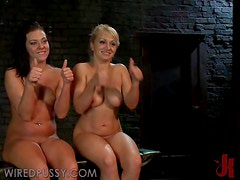 Temperature Rising Femdom Action With Blonde And Brunette