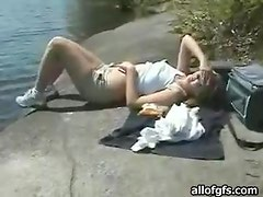 Outdoor Fun With An Amateur Blonde That Loves To Suck Cock