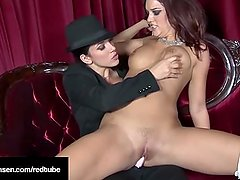 Busty Penthouse Pet Jelena Jensen StrapOn Fucks Jayden Cole!