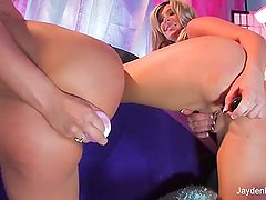 Colored Curtain With London & Jayden Jaymes