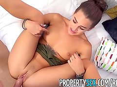 PropertySex - Landlord fucks best friend's hot ex-girlfriend