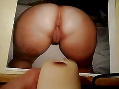 Huge cum load on big ass and pussy